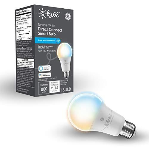 C by GE Tunable White Direct Connect Light Bulb (1 A19 Smart LED Bulbs), 60W Replacement, 1-Pac…