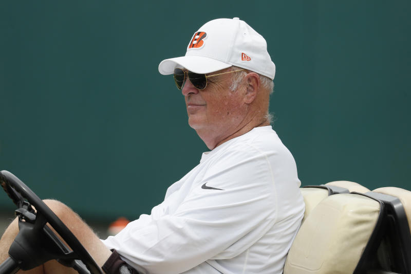 The conduct of Bengals owner Mike Brown during a free-agent meeting with Eric Reid is under scrutiny. (AP)