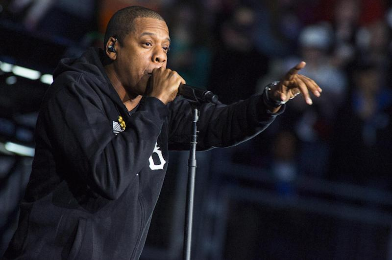 Jay-Z performs at the grassroots rally in support of President Barack Obama at the Nationwide Arena on Monday, Nov. 5, 2012, in Columbus, Ohio. (Photo by Barry Brecheisen/Invision/AP)