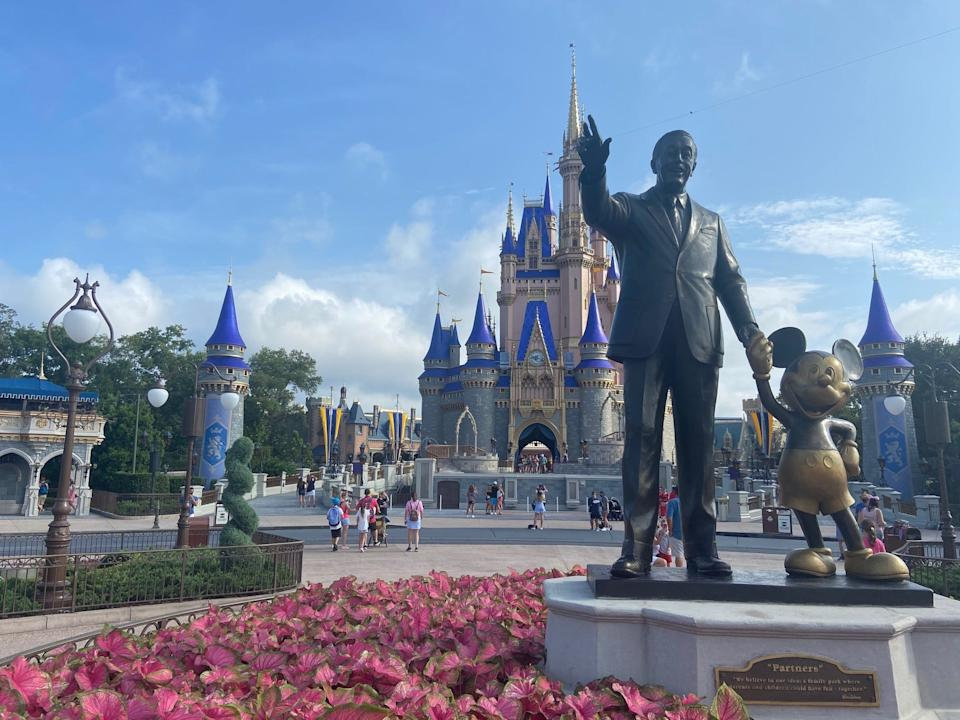 A smaller-capacity crowd was on hand early Saturday for the reopening of Magic Kingdom, which opened along with Animal Kingdom from 9 a.m. to 7 p.m.