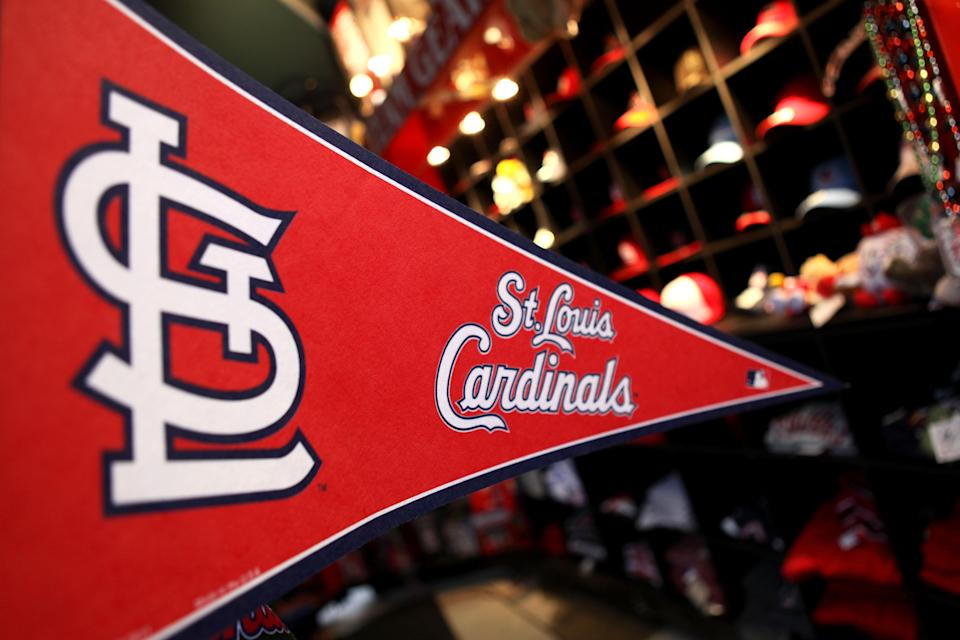 ST LOUIS, MO - OCTOBER 19: A St. Louis Cardinals banner is seen in a gift shop prior to Game One of the MLB World Series against the Texas Rangers at Busch Stadium on October 19, 2011 in St Louis, Missouri. (Photo by Jamie Squire/Getty Images)