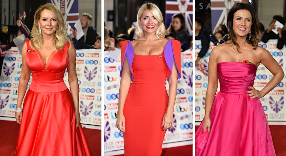 The Pride of Britain Awards saw  Holly Willoughby, Carol Vorderman and Susanna Reid don their best evening ensembles. [Photos: Getty]