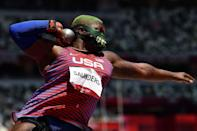 """<p>Biography: 25 years old</p> <p>Event: Women's shot put</p> <p>Quote: """"Everything that I've been through mental-health wise, injuries, financial ... Keep fighting, keep pushing, find value in yourself.""""</p>"""