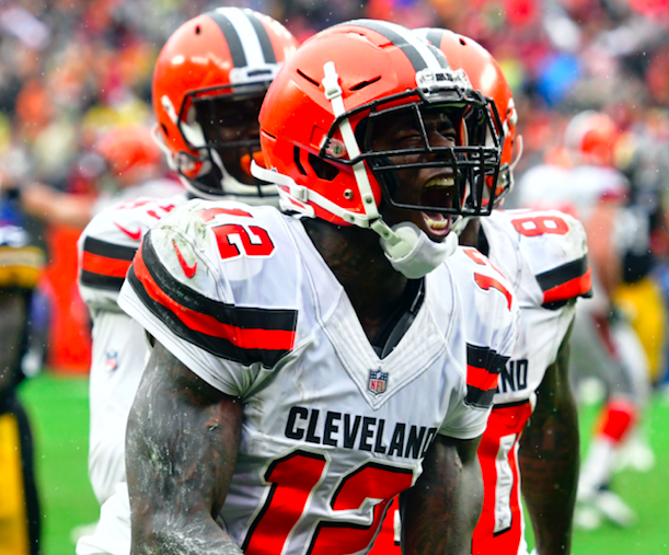 Josh Gordon got a start for the Browns, but that wasn't supposed to happen. (AP Photo)