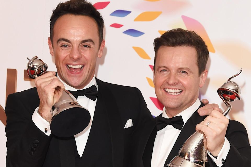 <p>Ant and Dec's Saturday night takeaway will return next month</p> (Getty)