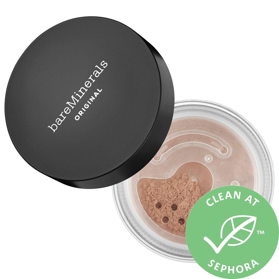 "<p><strong>bareMinerals</strong></p><p>sephora.com</p><p><strong>$32.00</strong></p><p><a href=""https://go.redirectingat.com?id=74968X1596630&url=https%3A%2F%2Fwww.sephora.com%2Fproduct%2Fbareminerals-original-foundation-broad-spectrum-spf-15-P61003&sref=https%3A%2F%2Fwww.goodhousekeeping.com%2Fbeauty-products%2Fg35745893%2Fbest-face-powders%2F"" rel=""nofollow noopener"" target=""_blank"" data-ylk=""slk:Shop Now"" class=""link rapid-noclick-resp"">Shop Now</a></p><p>In a foundation test, the Lab found that this powder foundation was hard to beat. Not only is it <strong>easy to apply and good at covering redness, it's also super buildable and customizable — </strong>you build go from sheer coverage (perfect for setting makeup) to full coverage easily. ""You can't make a powder much better than this,"" one tester remarked. It also comes in 30 shades, so you'll likely be able to find a perfect match. </p>"