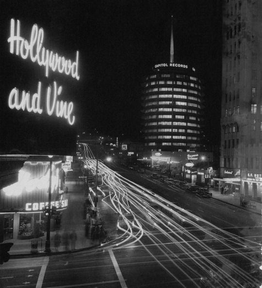 <p>The iconic Hollywood and Vine street corner serves as the epicenter of Hollywood and is home to the Capitol Records building, designed in 1956 to look like a stack of records. </p>