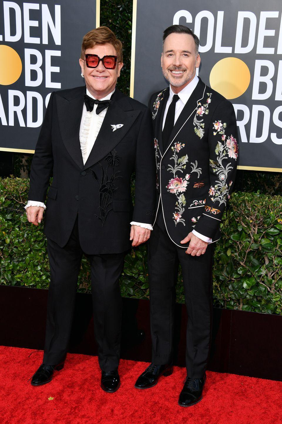 """<p><strong>Age gap: </strong>15 years</p><p>Elton John explores many of his past tumultuous relationships in the award-winning movie <em>Rocketman. </em>While romance wasn't always great for the 72-year-old star, he finally found the love of his life in Canadian filmmaker <a href=""""https://www.goodhousekeeping.com/life/relationships/news/a47743/elton-john-husband-david-furnish/"""" rel=""""nofollow noopener"""" target=""""_blank"""" data-ylk=""""slk:David Furnish"""" class=""""link rapid-noclick-resp"""">David Furnish</a>. Aw! </p>"""