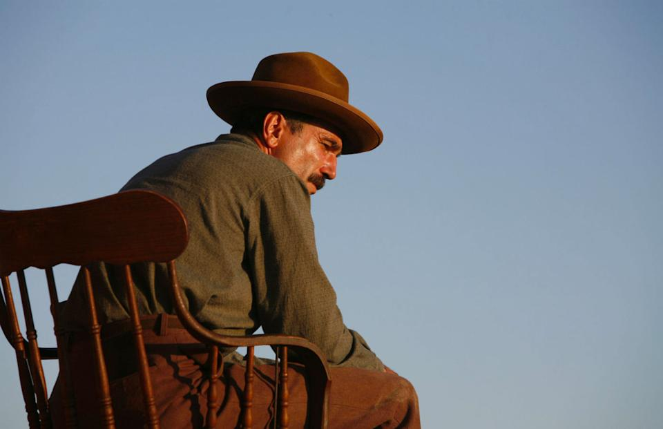 Daniel Day Lewis won the Best Actor Oscar as oil prospector Daniel Plainview in the 2007 film There Will Be Blood.