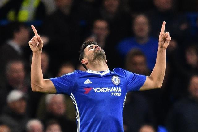 China Super League club Tianjin Quanjin have denied reports that they signed Chelsea striker Diego Costa for a record-breaking 90 million euros ($99 million). (AFP Photo/Glyn Kirk )