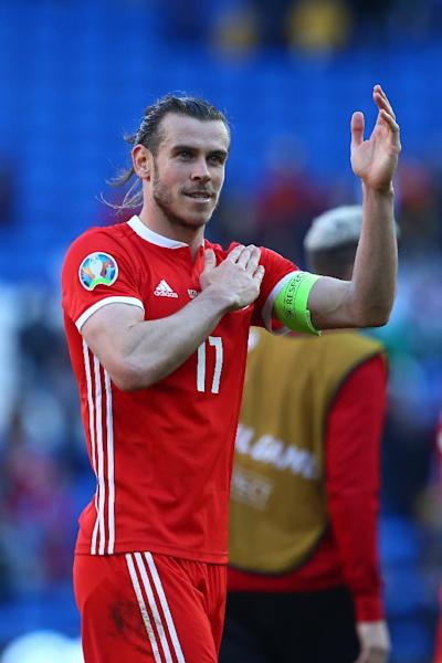 Gareth Bale made his 75th international appearance in Wales' victory over Slovakia (AFP Photo/Geoff CADDICK)