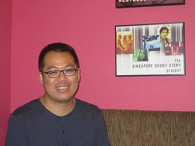 Lee Thean-jeen talks about the television and film industries in Singapore. (Yahoo! photo/Jeanette Tan)