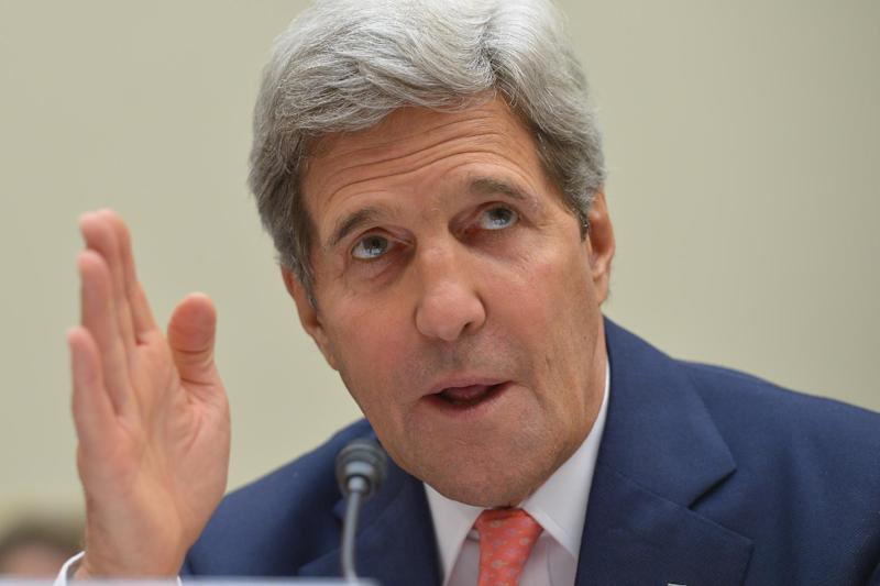 US Secretary of State John Kerry, seen here in Washington DC on September 18, 2014, has challenged North Korea over its rights record during the UN General Assembly