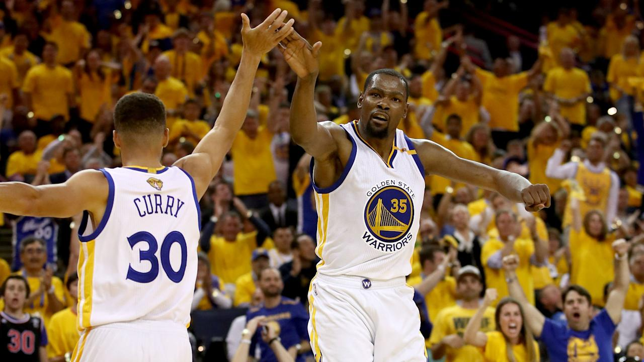 Stephen Curry and Kevin Durant's new deals with the Warriors were officially announced on Tuesday, with several other players also retained.