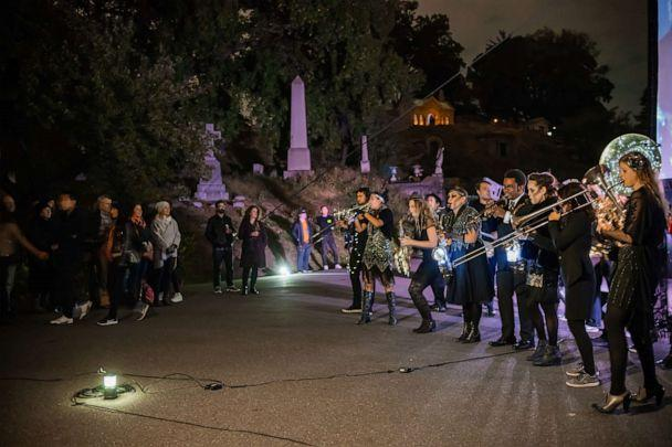 PHOTO: Performers in Nightfall at Green-Wood Cemetery in Brooklyn, New York, in 2018. (Courtesy Green-Wood Cemetery)