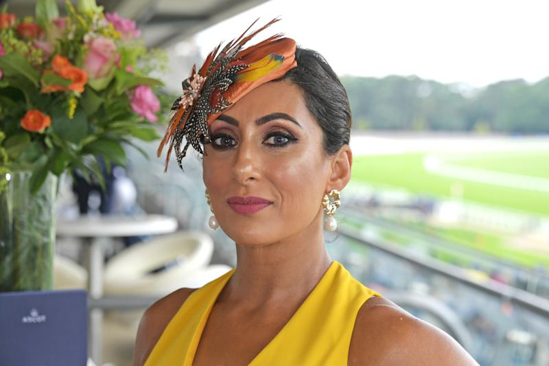 ASCOT, ENGLAND - JULY 27: Saira Khan attends the King George Weekend at Ascot Racecourse on July 27, 2019 in Ascot, England. (Photo by David M. Benett/Dave Benett/Getty Images for Ascot Racecourse)