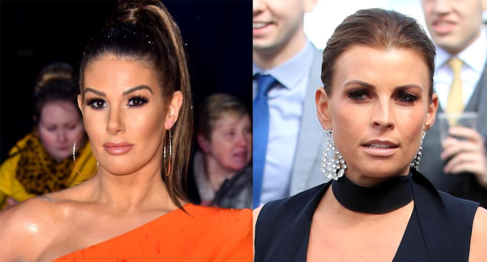 Rebekah Vardy and Coleen Rooney. (Photo by Matt Crossick/PA Images via Getty Images. Peter Byrne/PA Images via Getty Images)