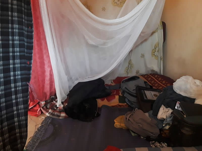 A view shows personal items belonging to abducted students of the Federal College of Forestry and Mechanisation, in Kaduna