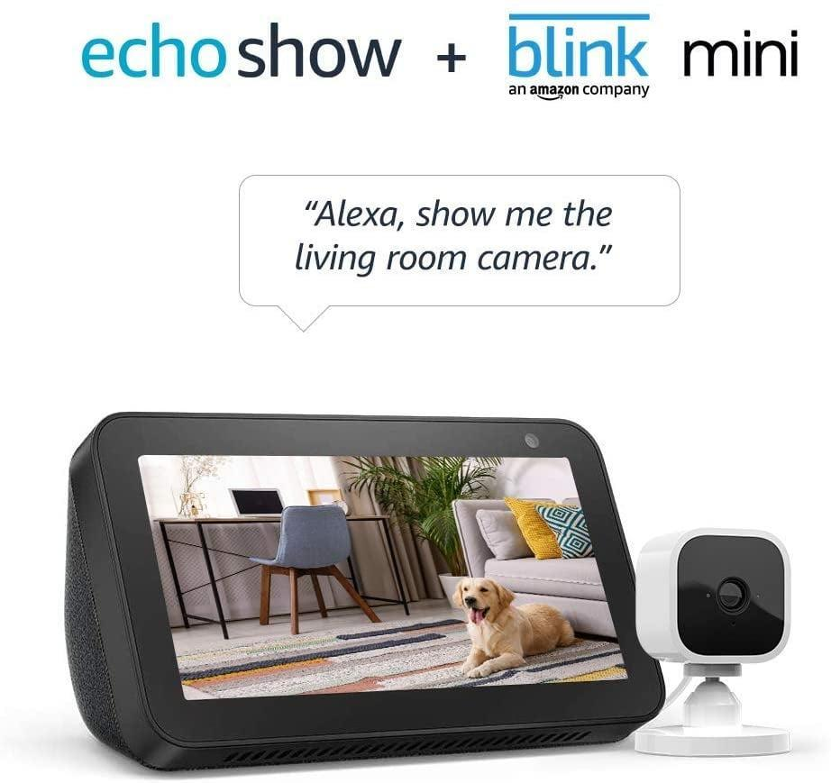 <p><span>Echo Show 5 Charcoal With Blink Mini Indoor Smart Security Camera</span> ($50, originally $125)</p>