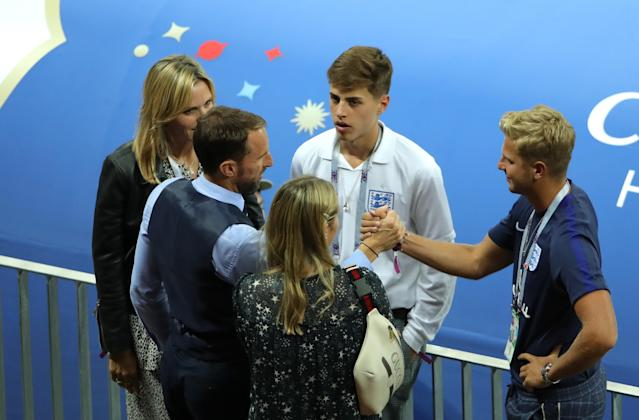 <p>Southgate with his family. </p>