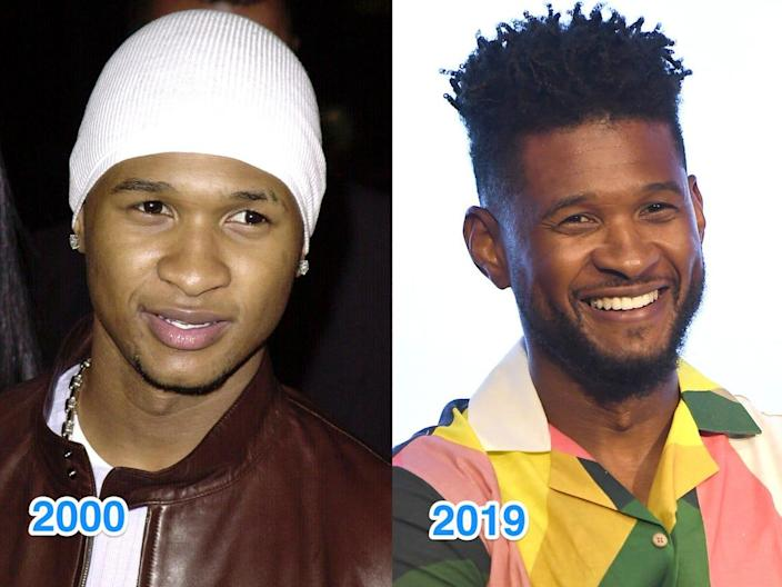 usher then and now