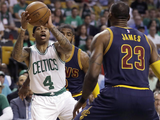 Isaiah Thomas led the Celtics to the Eastern Conference finals against the Cavaliers last season. (AP)