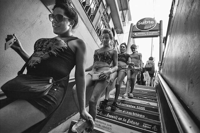 <p>Women from El Gondolín enter the Buenos Aires subway. (Copyright © 2018 by Kike Arnal. These images originally appeared in Revealing Selves: Transgender Portraits from Argentina, published by The New Press. Reprinted here with permission.) </p>