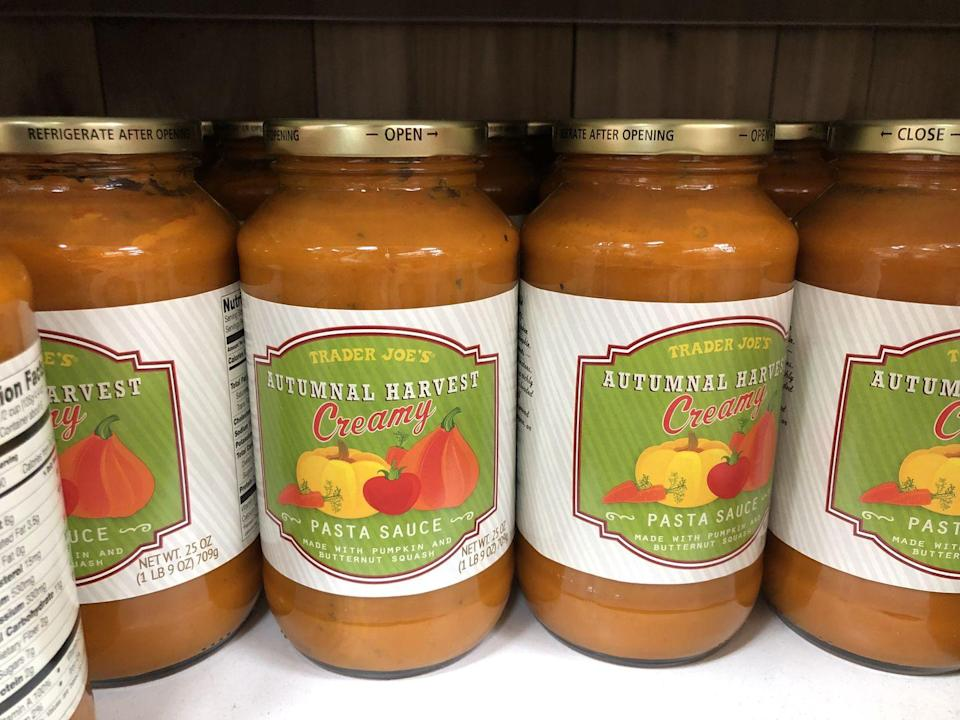 <p>If you make pasta on Thanksgiving (it's a thing!) be sure to use this sauce to give it that fall feel. </p>