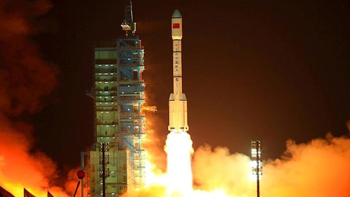 The spacecraft was launched using a Chinese Long March 2F rocket