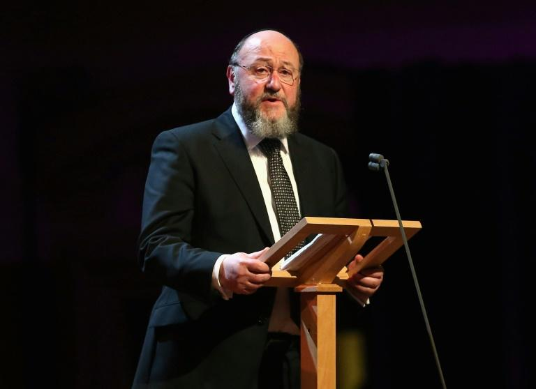 Britain's chief rabbi accused Labour leader Jeremy Corbyn of failing to address claims of widespread anti-Semitism among party members