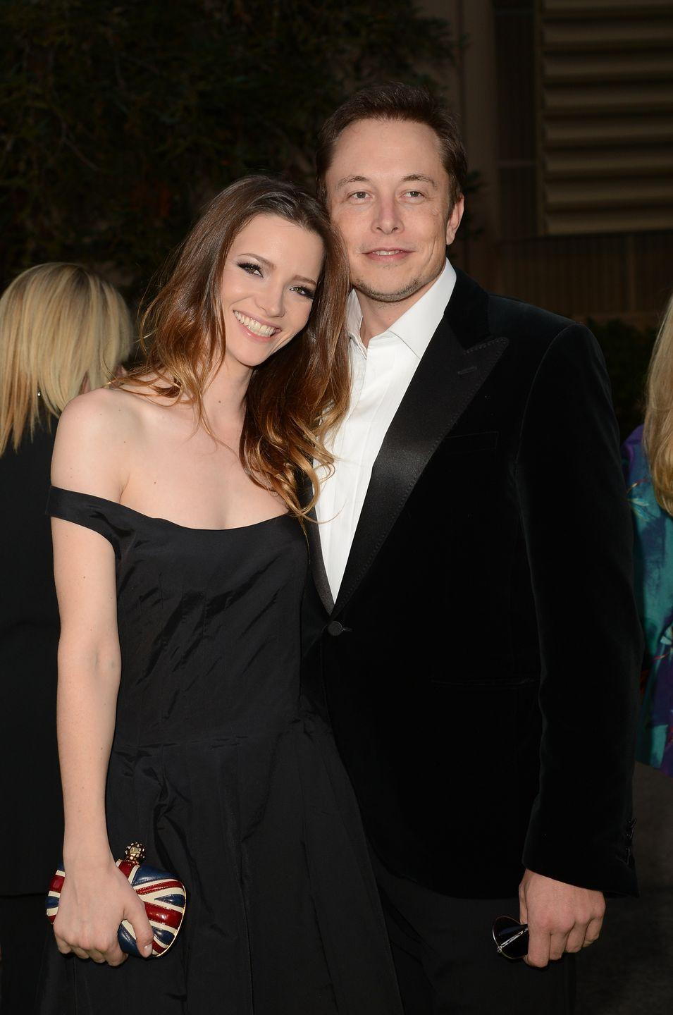 """<p>Elon Musk and actress Talulah Riley got married in 2010, but split after two years, which the <a href=""""https://www.forbes.com/sites/hannahelliott/2012/01/18/elon-musk-to-divorce-wife-talulah-riley/?sh=375a0a8f71b2"""" rel=""""nofollow noopener"""" target=""""_blank"""" data-ylk=""""slk:Tesla CEO announced via Twitter"""" class=""""link rapid-noclick-resp"""">Tesla CEO announced via Twitter</a>, saying, '@rileytalulah It was an amazing four years. I will love you forever. You will make someone very happy one day.' Just one year later, <a href=""""https://www.businessinsider.com/elon-musk-relationships-2017-11"""" rel=""""nofollow noopener"""" target=""""_blank"""" data-ylk=""""slk:the divorced couple remarried"""" class=""""link rapid-noclick-resp"""">the divorced couple remarried</a>; however, they finalised their second divorce in 2016. </p>"""