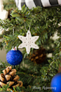 """<p>Roll out polymer clay and cut it out with snowflake-shaped cookie cutters to create these ornaments. Get creative with the details, drawing in designs with toothpicks or pressing on textures with various fabrics. Make sure to poke a hole before baking to run a wire or string through later for hanging.</p><p><em><a href=""""https://www.notjustahousewife.net/easy-clay-snowflake-ornaments/"""" rel=""""nofollow noopener"""" target=""""_blank"""" data-ylk=""""slk:Get the tutorial at Not Just a Housewife"""" class=""""link rapid-noclick-resp"""">Get the tutorial at Not Just a Housewife</a></em><br></p>"""