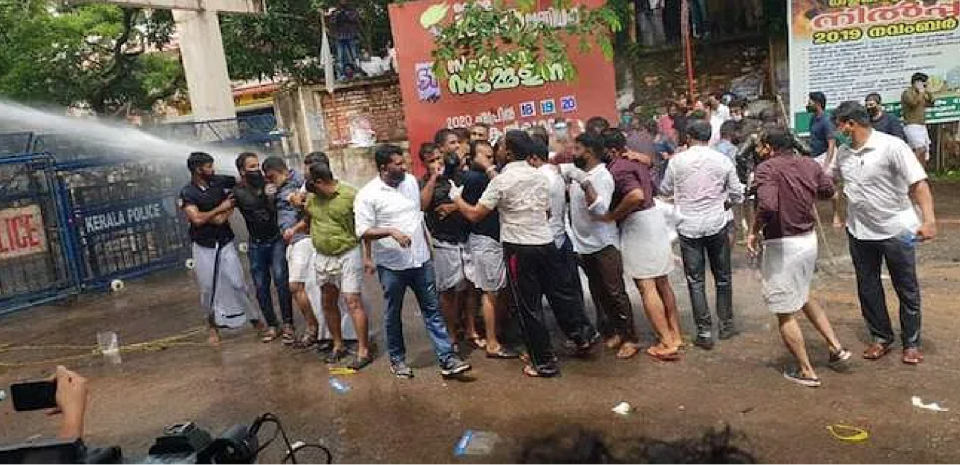 Protest marches were held by the Muslim Youth League and Yuva Morcha to the Kozhikode Collectorate and by Youth Congress to Chief Minister's residence in Kannur, that turned violent.