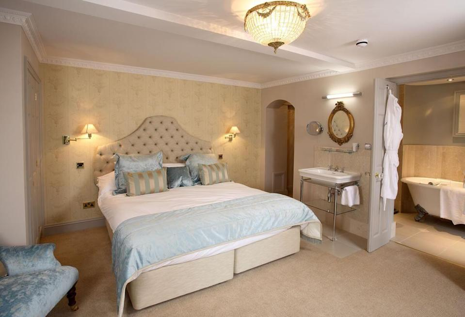 """<p>For modern country charm just a few miles from the North Norfolk coast, grab your furry friend and head to <a href=""""https://www.thehostearms.com/"""" rel=""""nofollow noopener"""" target=""""_blank"""" data-ylk=""""slk:The Hoste Arms"""" class=""""link rapid-noclick-resp"""">The Hoste Arms</a>. The dog-friendly hotel is based over three sites: the original inn (dating back to 1651), a smart townhouse opposite, and the Railway House, 800 yards away.</p><p>The latter offers a quirky, converted train carriage and three self-catering cottages. Pets are welcome in some of the rooms at The Hoste Arms, and you can even enjoy dinner with your dog in the stylish bar, lounge and conservatory. </p><p> There's an extra charge of £15 per dog a night.</p><p><a href=""""https://www.redescapes.com/offers/norfolk-kings-lynn-burnham-market-hoste-arms-hotel"""" rel=""""nofollow noopener"""" target=""""_blank"""" data-ylk=""""slk:Read our review of The Hoste Arms."""" class=""""link rapid-noclick-resp"""">Read our review of The Hoste Arms.</a></p><p><a class=""""link rapid-noclick-resp"""" href=""""https://www.thehostearms.com/"""" rel=""""nofollow noopener"""" target=""""_blank"""" data-ylk=""""slk:CHECK AVAILABILITY"""">CHECK AVAILABILITY</a></p>"""