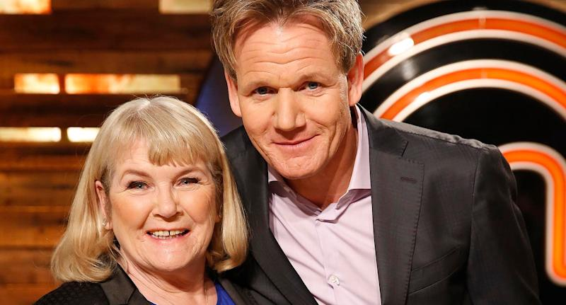 Gordon Ramsay is trying to keep his mother from knocking on Stevie Wonder's door. (Photo by FOX Image Collection via Getty Images)