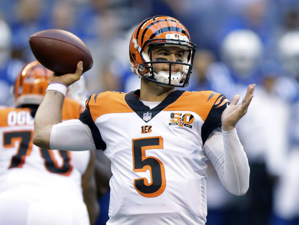 Cincinnati QB A.J. McCarron was reportedly the center of a trade between the Bengals and Browns, but Cleveland didn't report the trade in time. (AP )