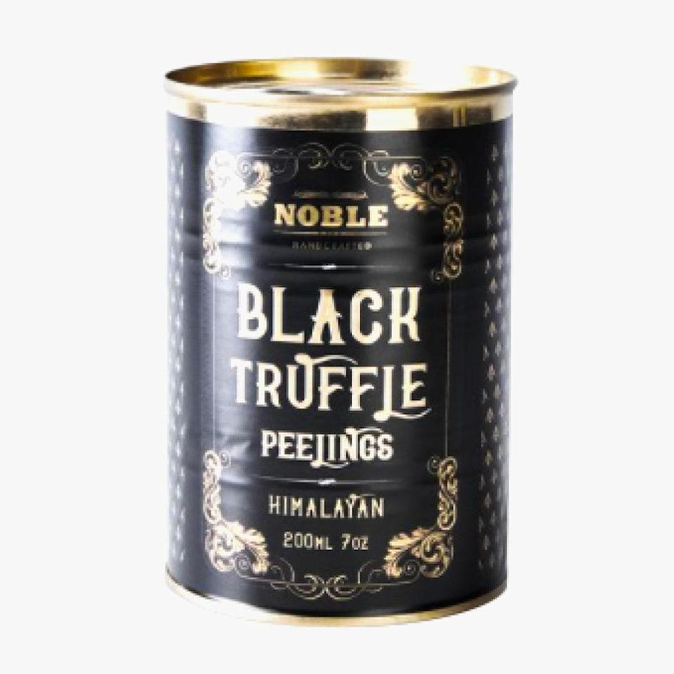 """You can't go wrong with an elegant tin of truffle peelings from Noble. $52, Food52. <a href=""""https://food52.com/shop/products/4914-noble-handcrafted-himalayan-black-truffle-peelings"""" rel=""""nofollow noopener"""" target=""""_blank"""" data-ylk=""""slk:Get it now!"""" class=""""link rapid-noclick-resp"""">Get it now!</a>"""
