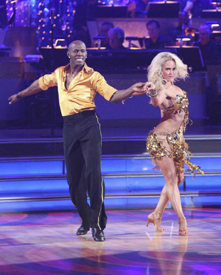 "Donald Driver and Peta Murgatroyd perform on ""Dancing With the Stars."""