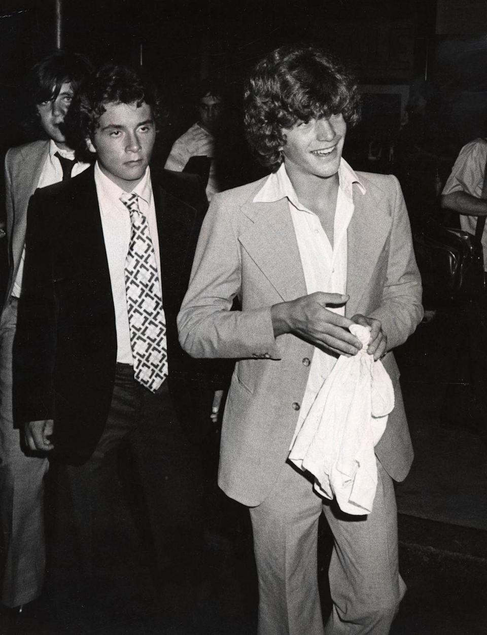 <p>John F. Kennedy Jr. and Anthony Radziwill during the RFK Pro-Celebrity Tennis Tournament Party at the Rainbow Room in New York City in 1976.</p>