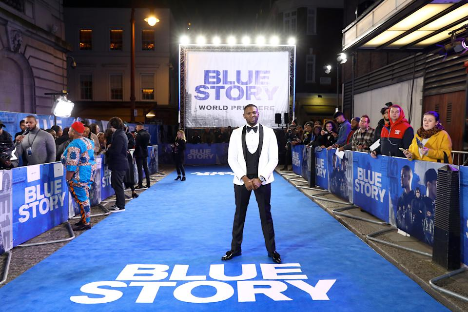 "LONDON, ENGLAND - NOVEMBER 14: Rapman attends the World Premiere of ""Blue Story"" at Curzon Cinema Mayfair on November 14, 2019 in London, England. (Photo by Tim P. Whitby/Getty Images for Paramount)"
