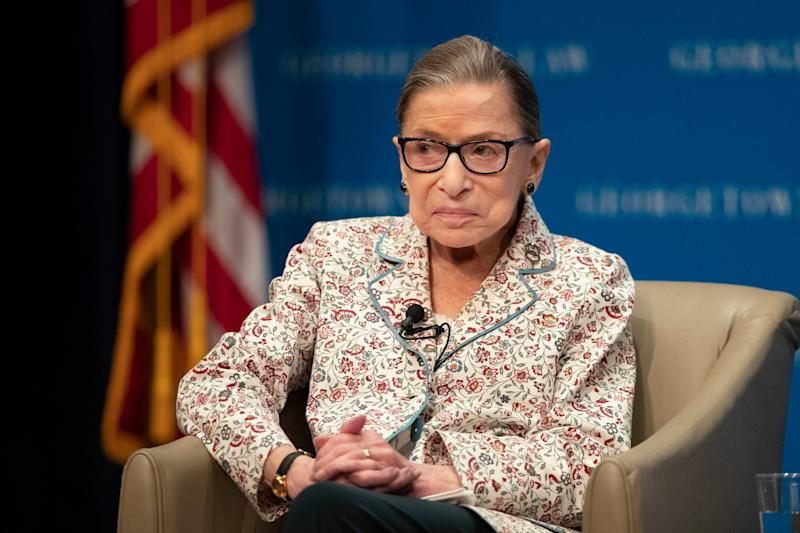 Supreme Court Associate Justice Ruth Bader Ginsburg, here at Georgetown University Law Center in Washington, D.C., opposes court-packing proposals.