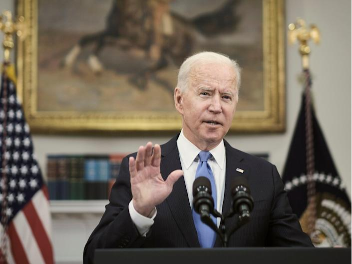 """<p>President Biden delivers remarks on the Colonial Pipeline on Thursday. Former and current aides have talked about his """"short fuse""""</p> (Getty)"""