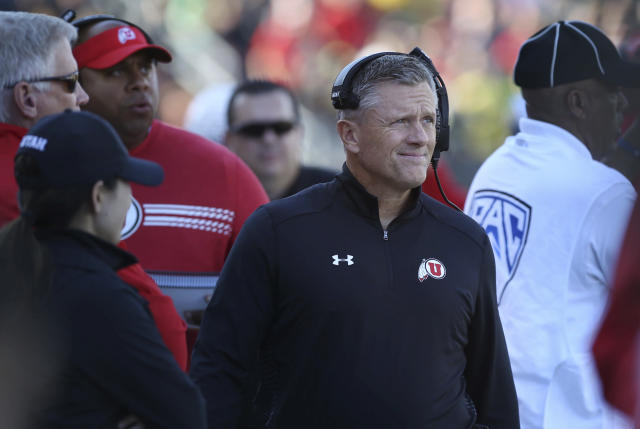 Utah head coach Kyle Whittingham is 10-1 as head coach in bowl games. (AP Photo/Chris Pietsch)