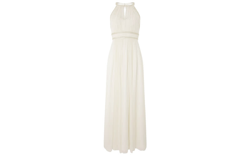 """<p>Monsoon is a must for savvy brides-to-be and if you're planning a palm-fringed nuptials then look no further than this Grecian-inspired number. <a rel=""""nofollow noopener"""" href=""""https://uk.monsoon.co.uk/view/product/uk_catalog/mon_40,mon_40.1/6402044618"""" target=""""_blank"""" data-ylk=""""slk:Shop now"""" class=""""link rapid-noclick-resp""""><em>Shop now</em></a>. </p>"""