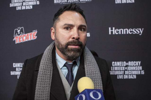 Oscar De La Hoya has been accused of sexual assault. (Photo by Bill Tompkins/Getty Images)