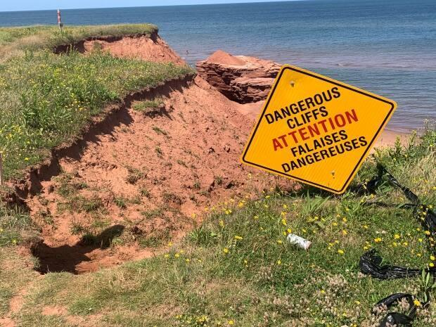 The government said it's added more signage cautioning visitors in the area. (Laura Meader/CBC - image credit)