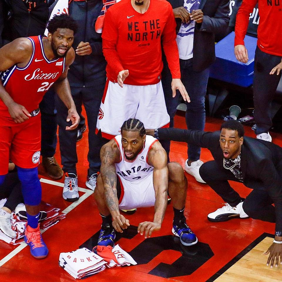 """<h1 class=""""title"""">May 13: Kawhi Leonard</h1> <div class=""""caption""""> When you hit the wildest buzzer-beater in recent memory, your uniform is the #BigFitoftheDay. </div> <cite class=""""credit"""">Rick Madonik</cite>"""