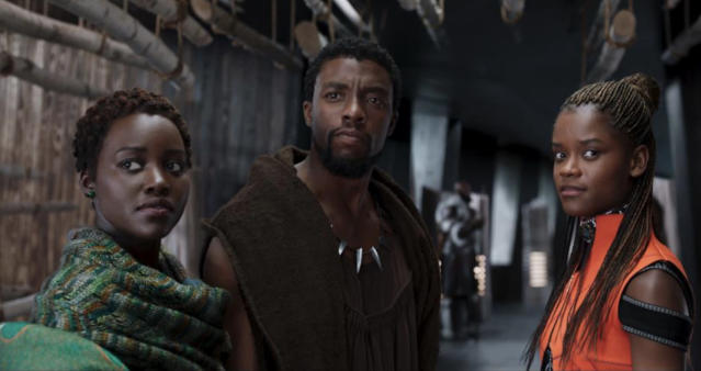 Lupita Nyong'o, Chadwick Boseman, and Letitia Wright Photo: Marvel Studios
