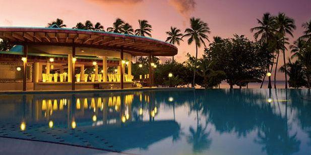 "All-inclusive 4-night-stay at the Dream La Romana Resort & Spa. Travel dates: May through Aug. 17, with select dates March through April. <a href=""https://www.cheapcaribbean.com/resorts/Dominican-Republic-La-Romana/Dreams-La-Romana-Resort-Spa/2469.html?searchParameters.bookingType=P&priceAndBook.packageId=7607&icid=mm_dl_dl_2&placementId=SaleLP_Deals_List_11&searchParameters.basicEconomySuppressed=true"" target=""_blank"">Visit the deal</a>."