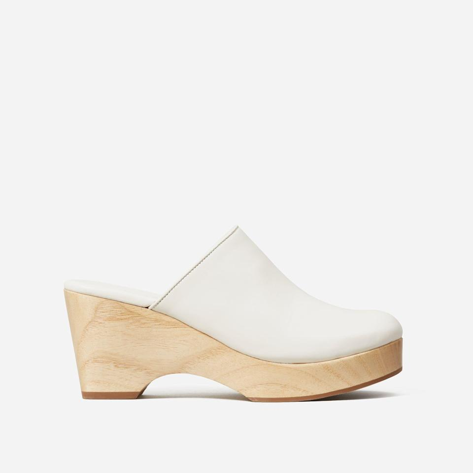 """<p><strong>everlane</strong></p><p>everlane.com</p><p><strong>$98.00</strong></p><p><a href=""""https://go.redirectingat.com?id=74968X1596630&url=https%3A%2F%2Fwww.everlane.com%2Fproducts%2Fwomens-clog-bone&sref=https%3A%2F%2Fwww.townandcountrymag.com%2Fstyle%2Ffashion-trends%2Fg35155148%2F2021-shoe-trends%2F"""" rel=""""nofollow noopener"""" target=""""_blank"""" data-ylk=""""slk:Shop Now"""" class=""""link rapid-noclick-resp"""">Shop Now</a></p>"""